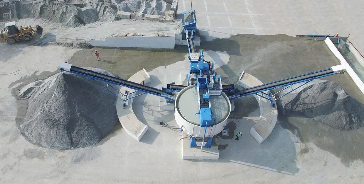 Combo sand washing and water recycling plant - CDE